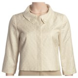 Think Tank Textured Crop Jacket - 3/4 Sleeve (For Women)