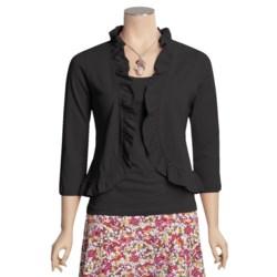 Lilla P Pima Cotton Jersey Bolero Shirt - Ruffled, 3/4 Sleeve (For Women)
