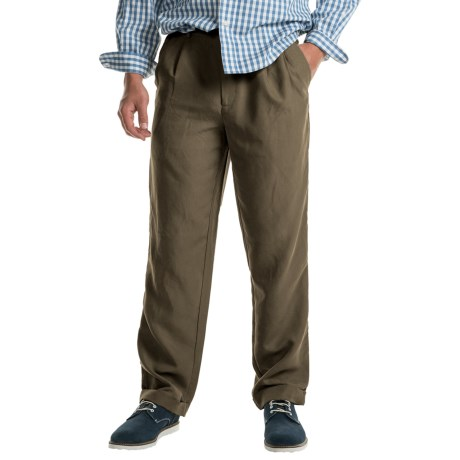 Specially made Cotton Cuffed Pleated Pants (For Men)