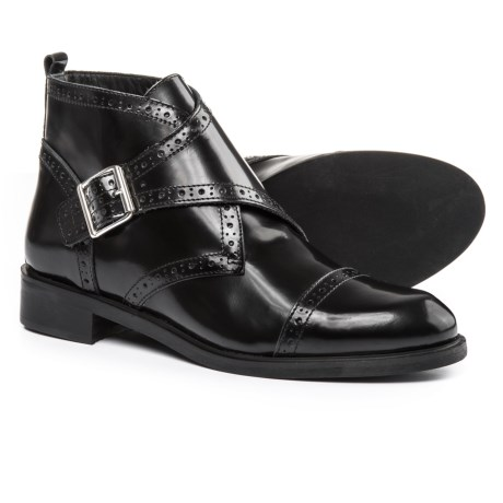 Barbara Barbieri Buckle Boots - Leather (For Women) Made in Italy