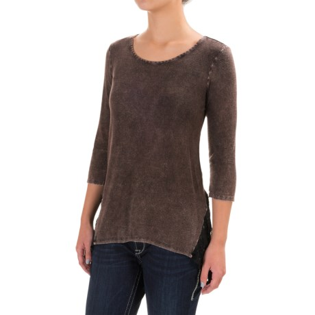 Wrangler Rock 47 Mineral Wash Tunic Shirt - Scoop Neck, 3/4 Sleeve (For Women)