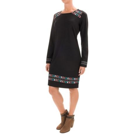 Wrangler Embroidered Knit Dress - Long Sleeve (For Women)