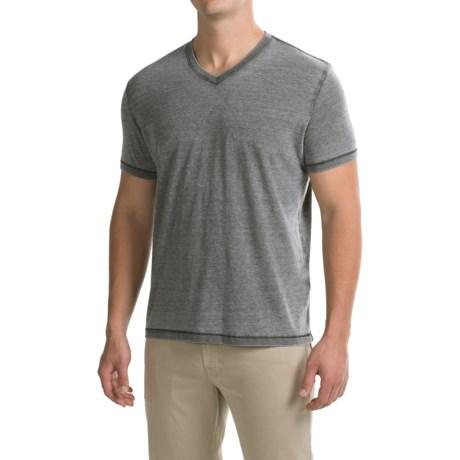 Lucky Brand Venice Burnout Shirt - V-Neck, Short Sleeve (For Men)