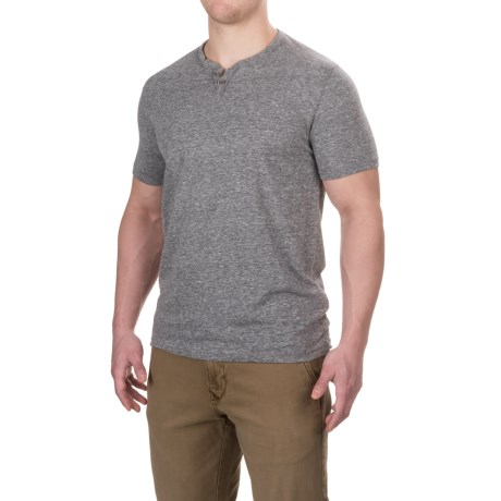 Lucky Brand Button Notch T-Shirt - Short Sleeve (For Men)