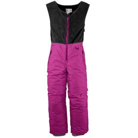 White Sierra Snow Bib Overalls - Insulated (For Little Kids)
