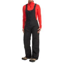White Sierra Bib Overalls - Waterproof, Insulated (For Women)