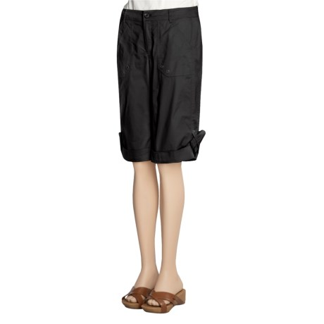 A.K.A. Woman Suzie Bermuda Shorts - Fineline Stretch Cotton Twill (For Women)