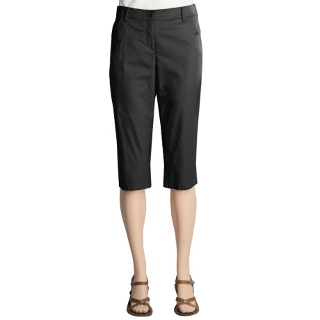 A.K.A. Woman Jules Bermuda Shorts - Fineline Stretch Cotton Twill (For Women)