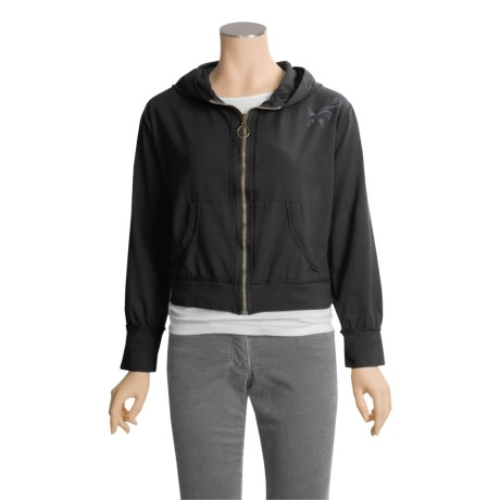 Calispia Stretch Cotton Jersey Hoodie - Zip Front (For Women)