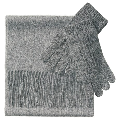 La Fiorentina Scarf and Glove Set - Cashmere-Wool (For Women)