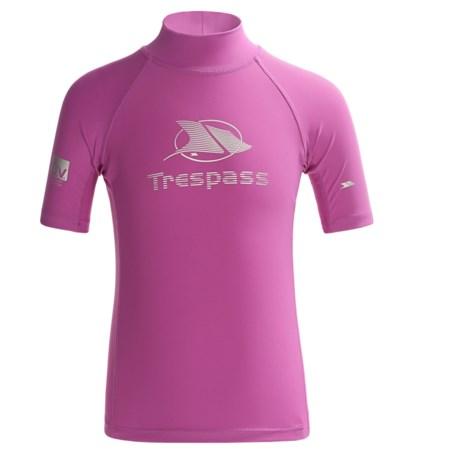 Trespass Alva Rash Guard - UPF 40+, Short Sleeve (For Little and Big Girls)