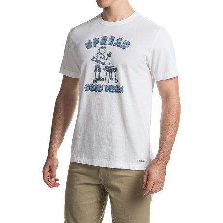 Life is good® Crusher™ Crew T-Shirt - Short Sleeve (For Men)