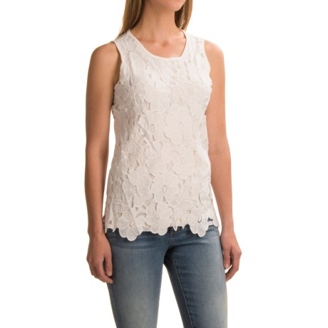 Studio West Lace Tank Top (For Women)