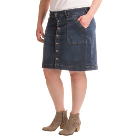 JAG Florence Denim Skirt (For Plus Size Women)
