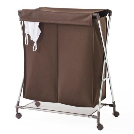 neatfreak! Two-Compartment Folding Clothes Hamper