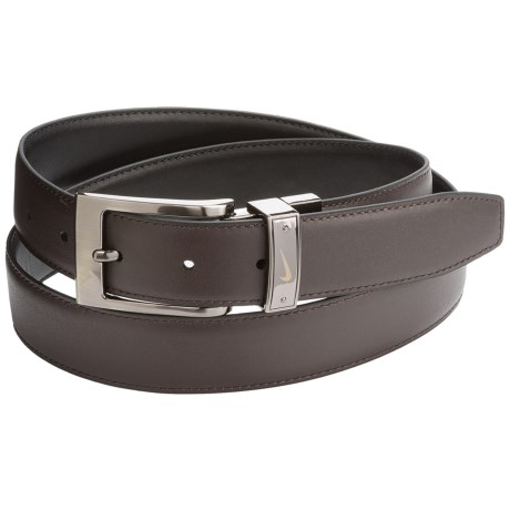 Nike Swoosh Laser Loop Belt - Leather, Reversible (For Men)