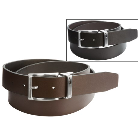 Nike Loop Cutout Leather Belt - Reversible (For Men)