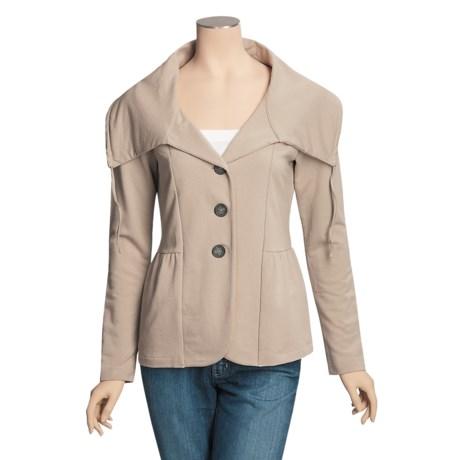 Lilla P French Terry Blazer - Drawstring Collar, Long Sleeve (For Women)