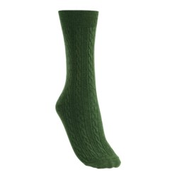 Goodhew San Fran Cable Socks - Merino Wool, Lightweight (For Women)