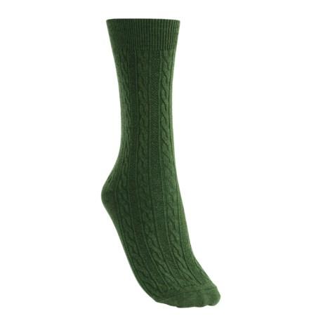 Goodhew San Fran Cable Socks - Merino Wool, Lightweight (For Women)