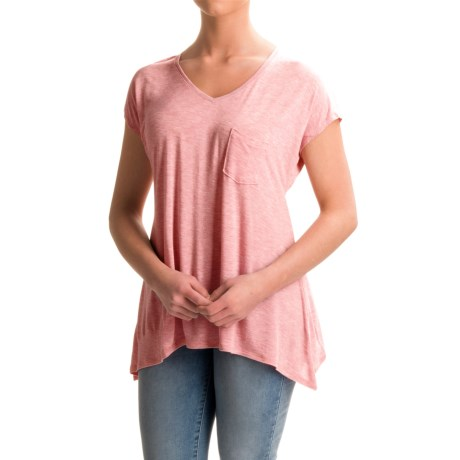 Lilla P Soft-Draped Swing Shirt - Short Sleeve (For Women)