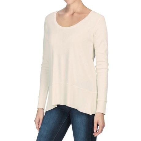 Lilla P Fine Rib Swing Shirt - Pima Cotton, Long Sleeve (For Women)