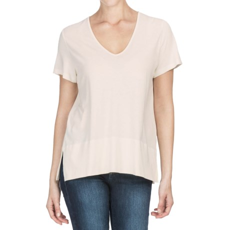 Lilla P Pima Cotton-Modal V-Neck Shirt - Short Sleeve (For Women)