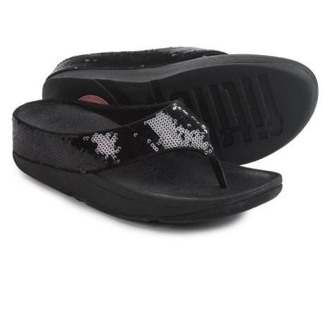 FitFlop Ringer Sequin Toe-Post Sandals (For Women)