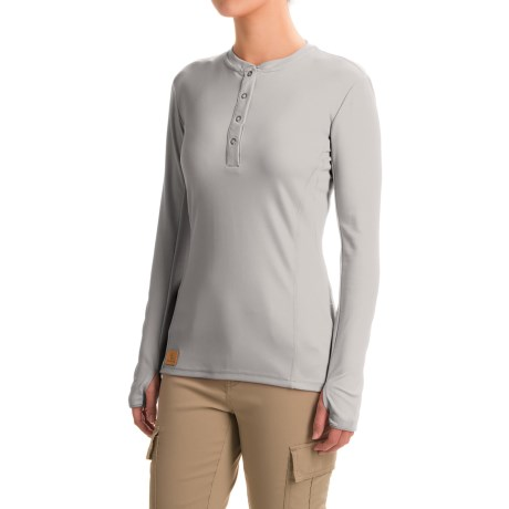 Western Rise Holy Cross Henley Shirt - UPF 30+, Long Sleeve (For Women)