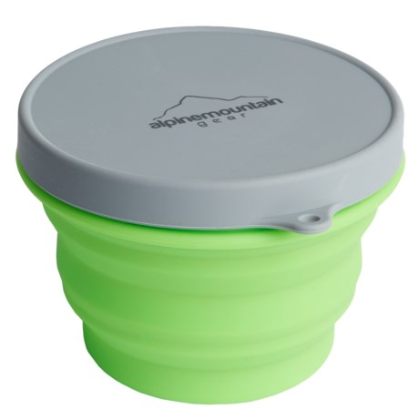 Alpine Mountain Gear Collapsible Silicone Container with Lid - Medium, 16 fl.oz.