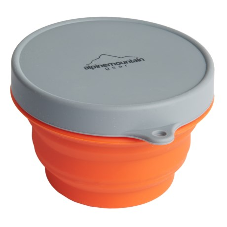 Alpine Mountain Gear Collapsible Silicone Container with Lid - Small, 10 fl.oz.