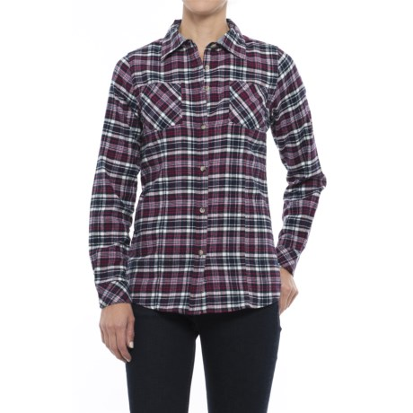 Tallwoods Cotton Plaid Flannel Shirt - Long Sleeve (For Women)