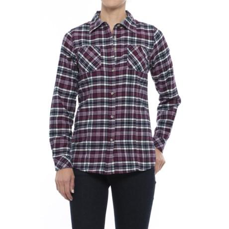 Tallwoods Cotton Plaid Flannel Shirt - Long Sleeve (For Women)