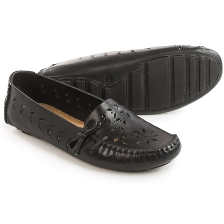 Tower 10 Sage Perforated Leather Moccasins (For Women)
