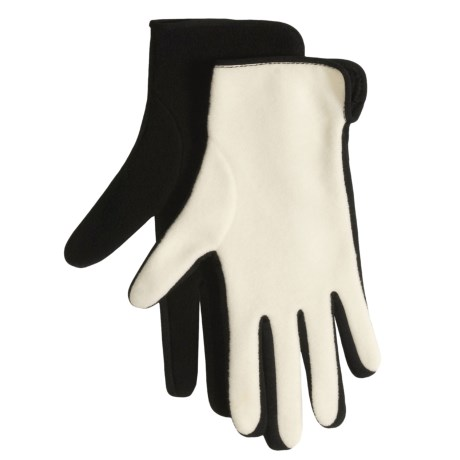 Cire by Grandoe Thumbs Up Fleece Gloves - Reversible (For Women)