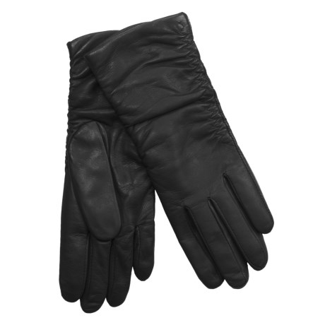Cire by Grandoe Ginger Gloves with Silk Lining - Lambskin (For Women)
