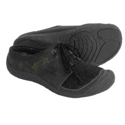 Keen Cheyenne Lace Shoes - Leather-Wool Slip-Ons (For Women)