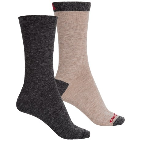 Cabot & Sons Solid Wool-Blend Socks - 2-Pack, Crew (For Women)