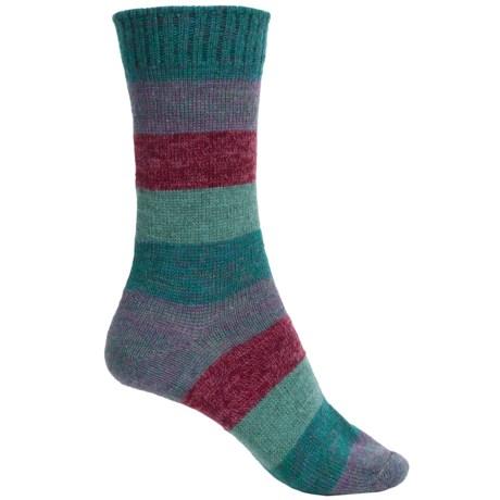Cabot & Sons Striped Socks - Crew (For Women)