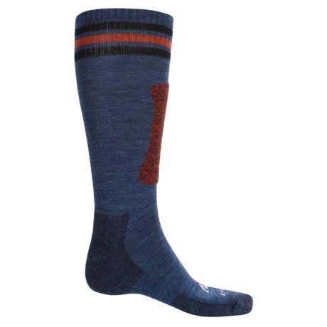 Cabot & Sons Triple Stripes Ski Socks - Merino Wool, Mid Calf (For Men)