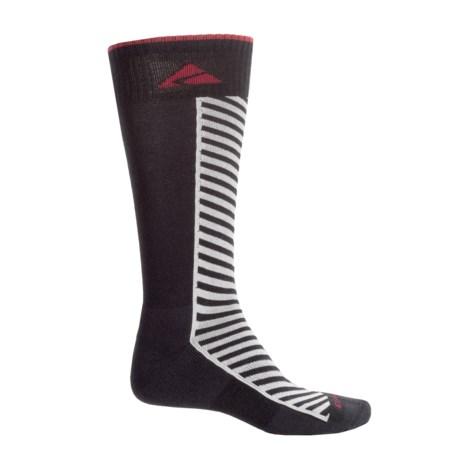 Cabot & Sons Diagonal Stripe Ski Socks - Merino Wool, Mid Calf (For Men)