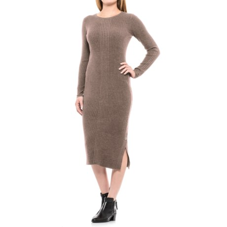 Artisan NY Side Snap Sheath Dress - Long Sleeve (For Women)