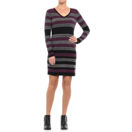 Clements Ribeiro Portobello Striped Midi Sheath Dress - Merino Wool, Long Sleeve (For Women)