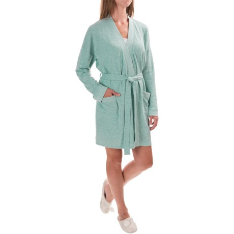Isaac Mizrahi Front Pocket Robe - Long Sleeve (For Women)