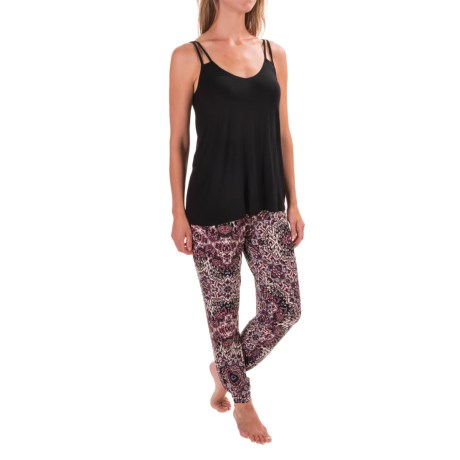 Artisan NY Strappy Swing Tank Top and Joggers - Stretch Rayon, Sleeveless (For Women)