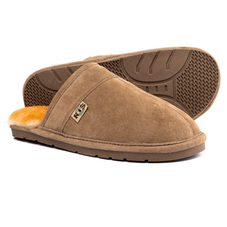 RJ'S Fuzzies Sheepskin Rj's Fuzzies Sheepskin Scuff Slippers - Suede (For Men)