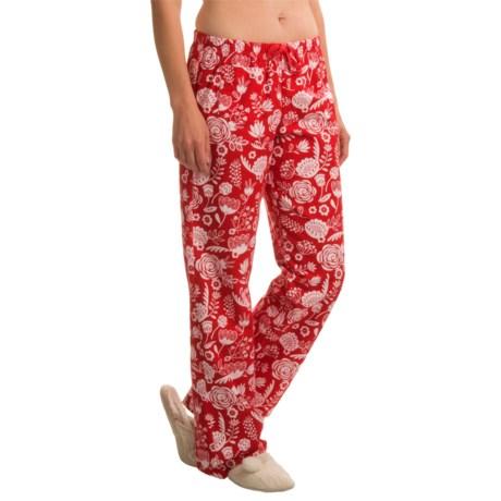 Little Blue House Flower Print Lounge Pants (For Women)