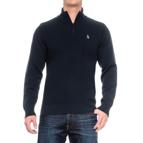US Polo Association U.S. Polo Assn. Texture Stripe Sweater - Zip Neck (For Men)