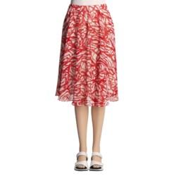 Lafayette 148 New York Spring Daisy Skirt - Crinkled Print (For Women)