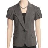 Lafayette 148 New York Hollis Jacket - Polished Wool Pinstripe (For Women)
